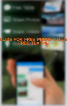 Guide for Free Phone Calls poster