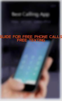 Guide for Free Phone Calls apk screenshot