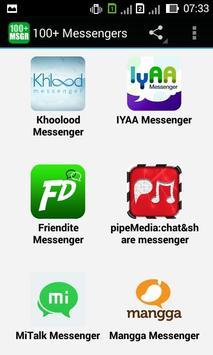 100+ Messengers apk screenshot