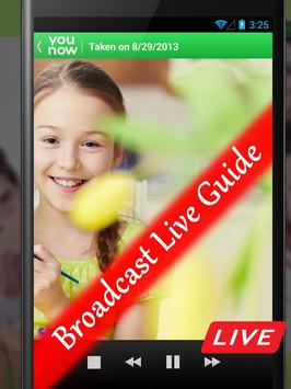 Broadcast Live : YOUNOW Guide poster
