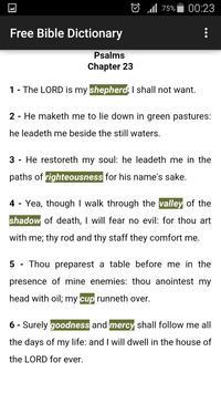 Free Bible Dictionary apk screenshot