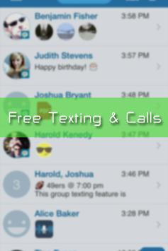 Free Text Me - Texting & Calls poster