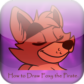 How to Draw Foxy the Pirate icon