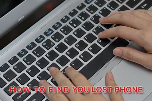 How to Find You Lost Phone apk screenshot