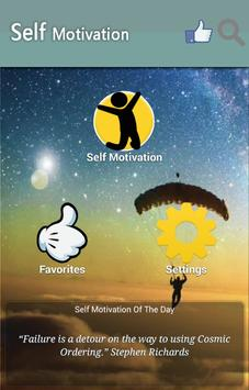 Self Motivation Quotes poster