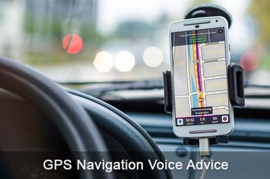 GPS Navigation Voice Advice poster
