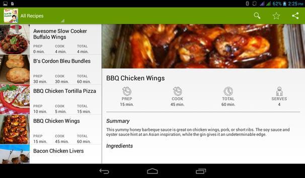 Chicken Legs Recipes apk screenshot