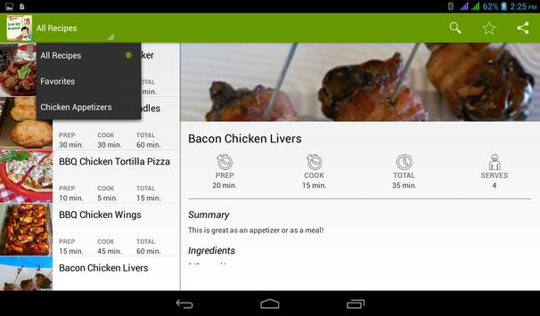 Skillet Chicken Breasts Recipe apk screenshot