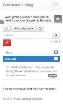 Public domain email apk screenshot