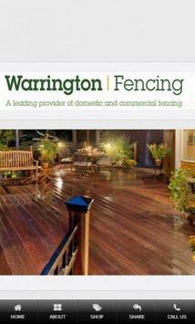 Warrington Fencing Ltd poster
