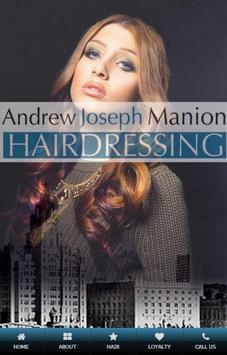 AJM Hairdressing poster