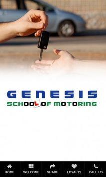Genesis School of Motoring poster