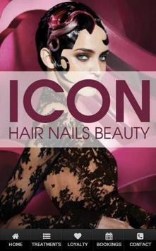 Icon Hair Nails and Beauty poster