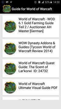 guide for world of warcaft apk screenshot
