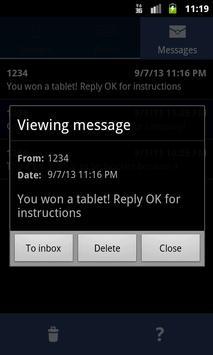 SMS Barricade apk screenshot