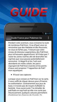 Guide France pour Pokémon Go poster
