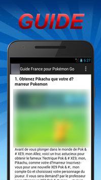 Guide France pour Pokémon Go apk screenshot