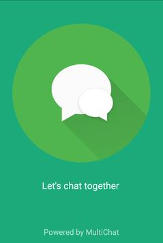 MultiChat - connect together poster