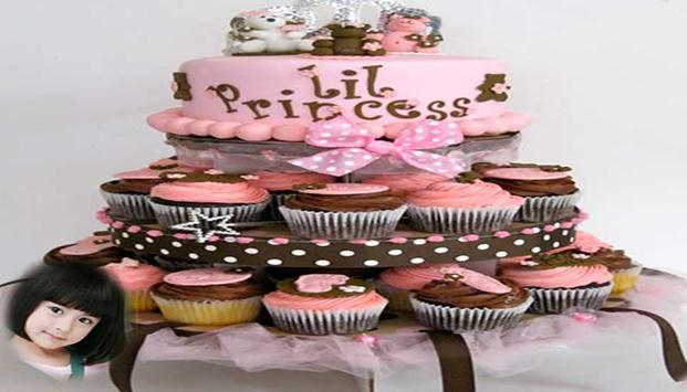 Happy birthday cake frame poster