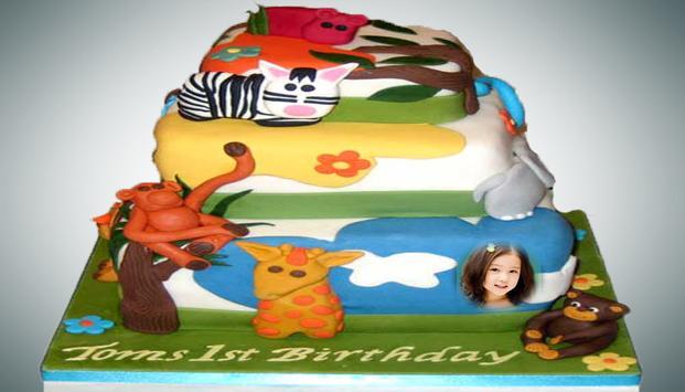 Happy birthday cake frame apk screenshot
