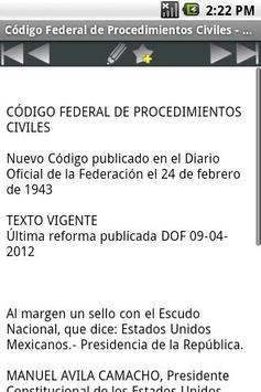 Código Federal de Procedimient apk screenshot