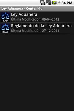 Ley Aduanera apk screenshot