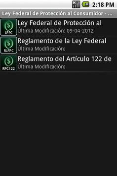 Ley Federal de Protección al C apk screenshot