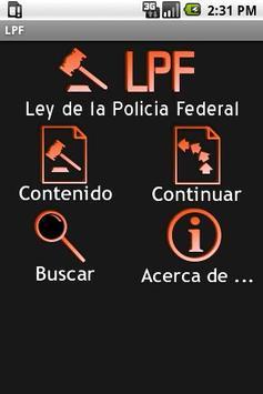 LPF – Ley de la Policia Federa poster