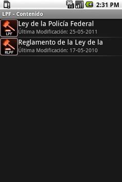 LPF – Ley de la Policia Federa apk screenshot