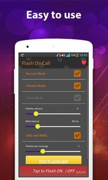 Flash on Call & SMS FlashAlert apk screenshot