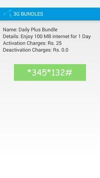 Telenor 3G Packages apk screenshot