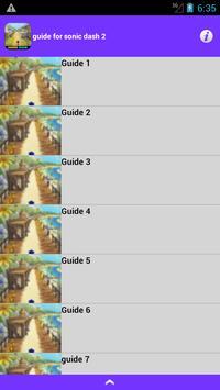 guide pour sonic dash new 2016 apk screenshot