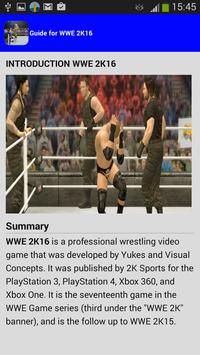 guide for WWE2K 2016 poster