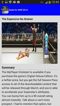guide for WWE2K 2016 apk screenshot