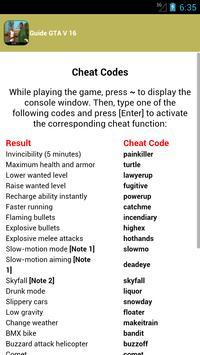 guide cheats gta san andreas apk screenshot