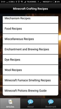Crafting of Minecraft Recipes apk screenshot