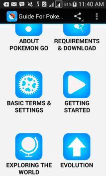 Guide For Pokemon Go New poster