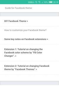 Guide for Facebook Theme apk screenshot