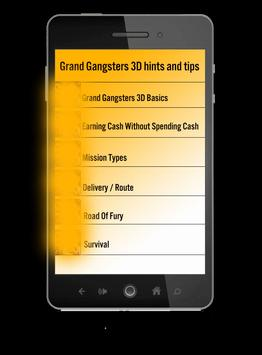 Guide for Grand Gangsters 3D apk screenshot