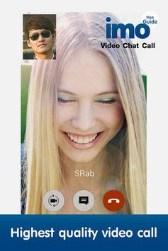 Free imo video chat call guide poster