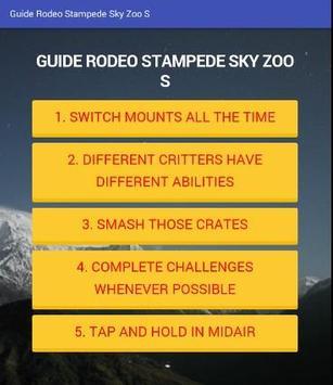 Guide Rodeo Stampede Sky Zoo S apk screenshot