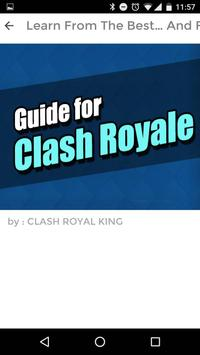 GUIDE FOR CLASH ROYALE HD apk screenshot