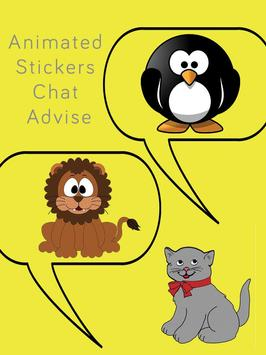 Animated Stickers Chat Advise poster