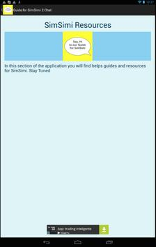 Guide for SimSimi 2 Chat poster