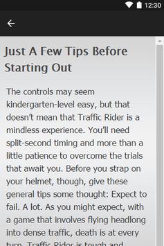 Guide Traffic Rider apk screenshot
