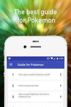 Guide for pokemon go tips poster
