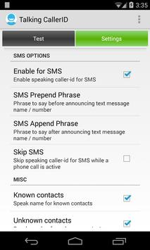 Talking Caller ID Calls & SMS apk screenshot