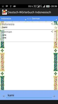 Deutsch-Wörterbuch Indonesisch apk screenshot