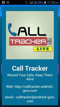 Call Tracker Lite - Spy poster