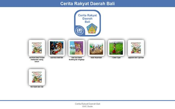 Cerita Rakyat Daerah Bali apk screenshot